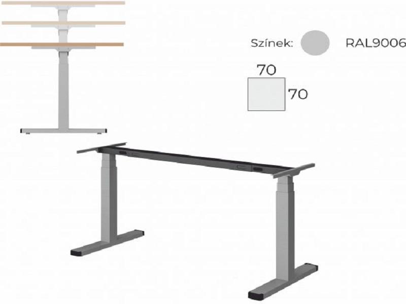 Elektromosan állítható, egyoldalon kerekített, íróasztal, EK-80-EL