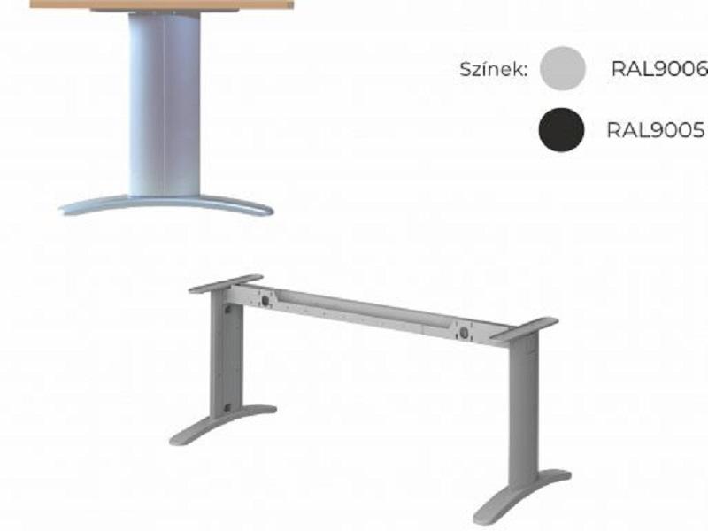Két oldalon kerekített íróasztal 804 mm-es mélységben, EK-80-LUX